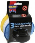 Kent Applicator Pads With Handle - Pack of 3