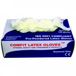 Comfit Disposable Gloves Latex Powdered Pack of 100