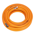 Sealey Air Hose 10m x 8mm Hybrid High Visibility with 1/4BSP Unions