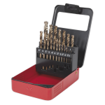 Sealey HSS Cobalt Split Point Fully Ground Drill Bit Set 19pc Metric
