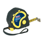 Sealey Rubber Measuring Tape 5m x 19mm Metric & Imperial