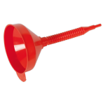 Sealey Flexi-Spout Funnel Medium 200mm with Filter