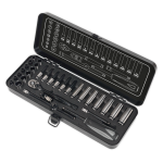 Sealey Socket Set 32pc 1/4Sq Drive 6pt WallDrive® Metric Black Series