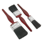 Sealey Pure Bristle Paint Brush Set 3pc