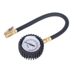 Sealey Tyre Pressure Gauge with Clip-On Chuck