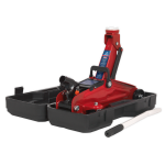 Sealey Trolley Jack 2tonne Short Chassis with Storage Case