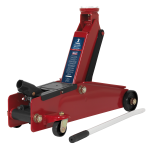 Sealey Trolley Jack 3tonne Long Chassis Heavy-Duty