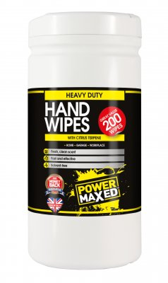 Power Maxed Heavy Duty Citrus Hand Wipes