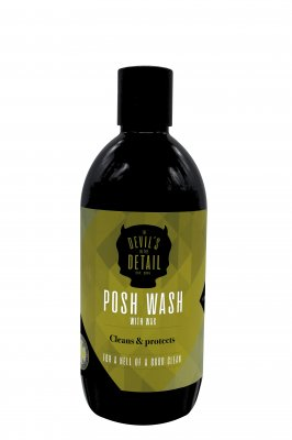 Devils In The Detail Posh Wash With Wax Shampoo 500ml
