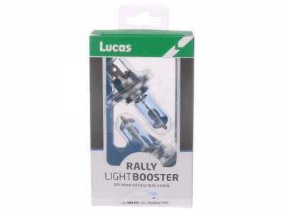 Lucas Light Booster Bulb 12v 100/80w H4 Rally Blue (Pack of 2)