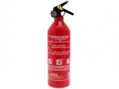 ABC Fire Extinguisher & Gauge- Dry Powder - 1kg