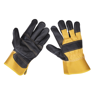 Sealey Rigger's Gloves Hide Palm Pair