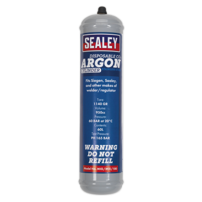 Sealey Gas Cylinder Disposable Carbon Dioxide/Argon 60ltr