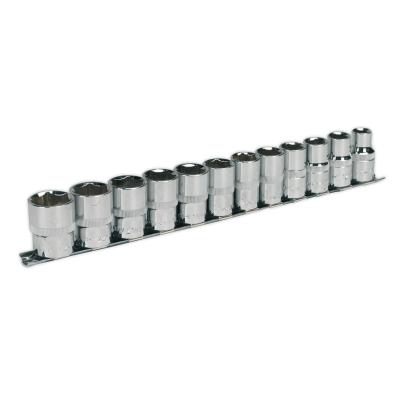 Sealey Socket Set 12pc 1/2Sq Drive 6pt WallDrive® Metric