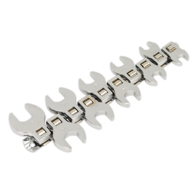 Sealey Crow's Foot Open End Spanner Set 10pc 3/8Sq Drive Metric