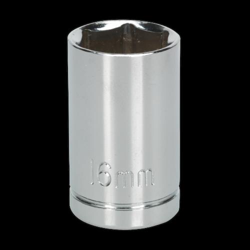 "Sealey Tools Wall Drive Socket 16mm 1/2"" Drive"
