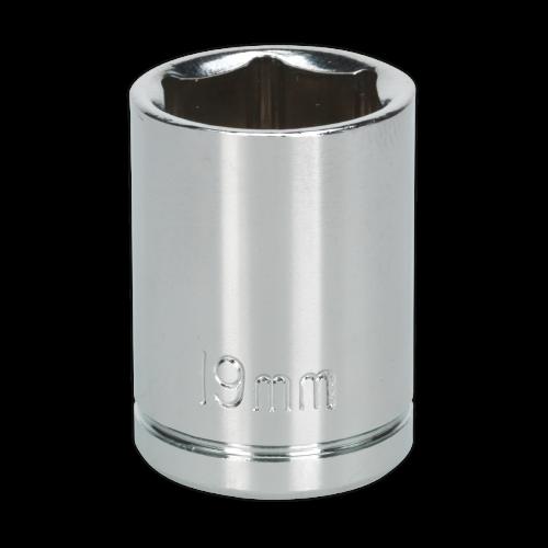 "Sealey Tools Wall Drive Socket 19mm 1/2"" Drive"