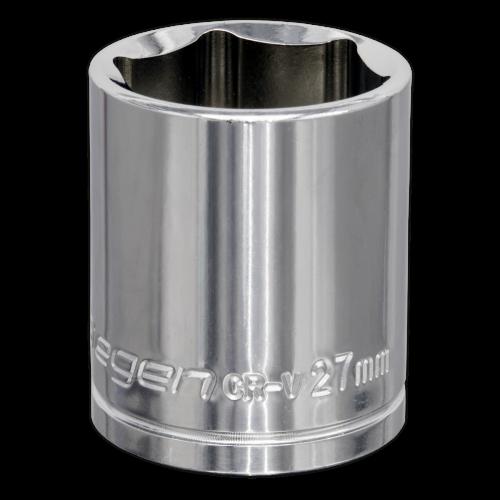 "Sealey Tools Wall Drive Socket 27mm 1/2"" Drive"