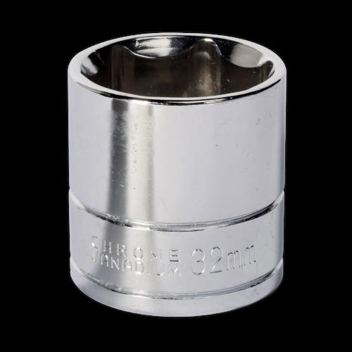 "Sealey Tools Wall Drive Socket 32mm 1/2"" Drive"
